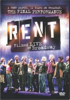 Rent filmed live on Broadway cover image