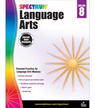 Spectrum language arts. Grade 8 cover image