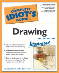 The complete idiot's guide to drawing illustrated cover image