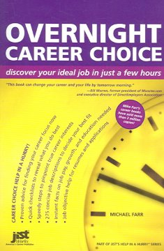 Overnight career choice : discover your ideal job in just a few hours cover image