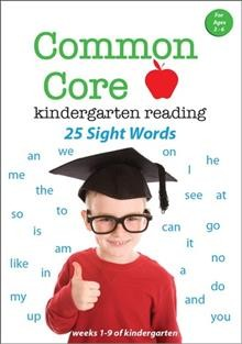 Common core kindergarten reading. 25 sight words cover image