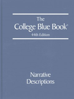 The College blue book cover image