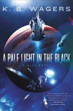 A pale light in the black cover image