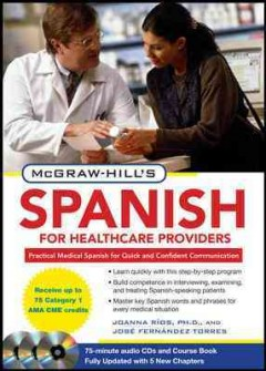 McGraw-Hill's Spanish for healthcare providers practical medical Spanish for quick and confident communication cover image