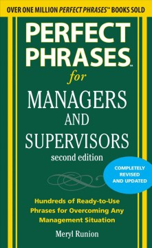 Perfect phrases for managers and supervisors, second edition cover image
