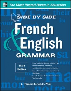 Side by side French & English grammar cover image