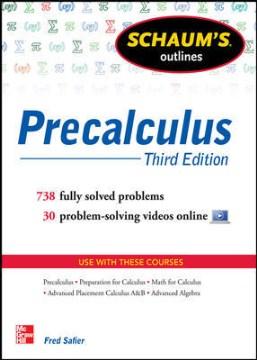 Schaum's outlines. Precalculus cover image