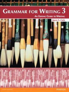 Grammar for writing 3 : an editing guide to writing cover image