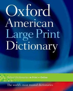 Oxford American large print dictionary cover image