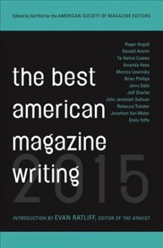 The best American magazine writing 2015 cover image