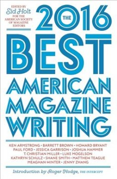 The best American magazine writing 2016 cover image