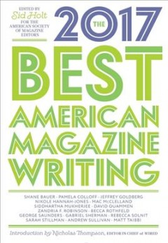 The best American magazine writing 2017 cover image