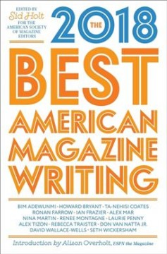 The best American magazine writing 2018 cover image
