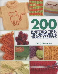200 knitting tips, techniques & trade secrets cover image