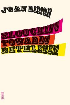 Slouching towards Bethlehem cover image