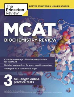 MCAT biochemistry review cover image