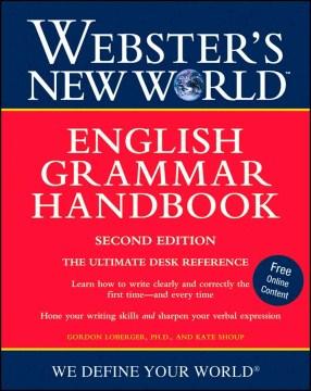 Webster's New World English grammar handbook cover image