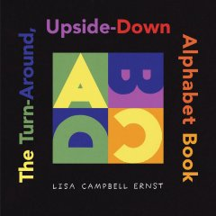 The turn-around upside-down alphabet book cover image