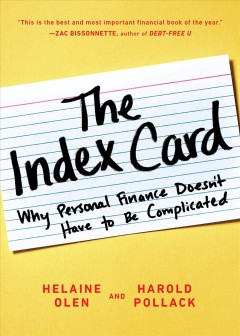 The index card why personal finance doesn't have to be complicated cover image