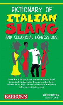 Dictionary of Italian slang and colloquial expressions cover image