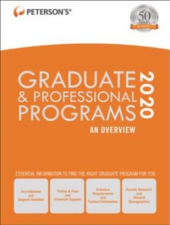 Peterson's guides to graduate study cover image