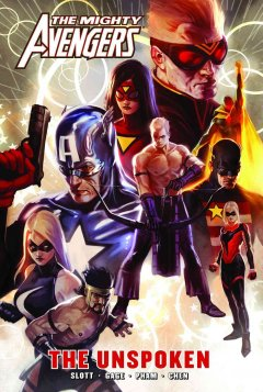 The Mighty Avengers. The unspoken cover image