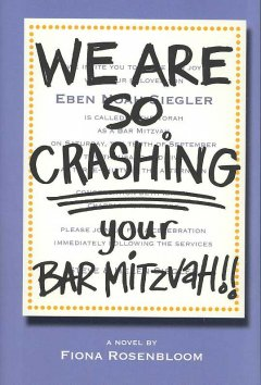 We are so crashing your Bar Mitzvah! cover image