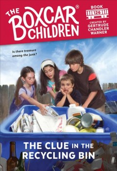 The clue in the recycling bin cover image