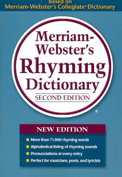 Merriam-Webster's rhyming dictionary cover image