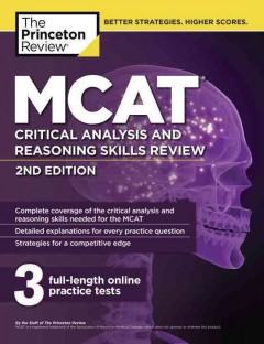MCAT critical analysis and reasoning skills review cover image