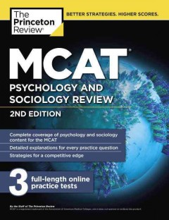 MCAT psychology and sociology review : for MCAT cover image