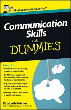 Communication skills for dummies cover image