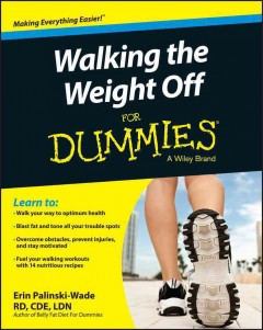 Walking the weight off for dummies cover image