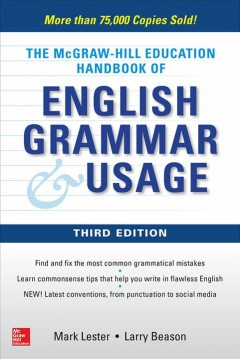 The McGraw-Hill Education handbook of English grammar and usage cover image