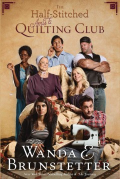 The half-stitched Amish quilting club cover image
