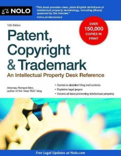 Patent, copyright & trademark cover image