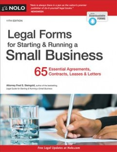 Legal forms for starting & running a small business cover image
