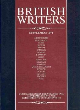 British writers. Supplement XVI cover image