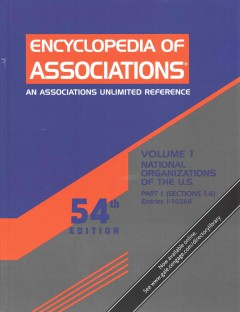 Encyclopedia of associations. National organizations of the U.S cover image