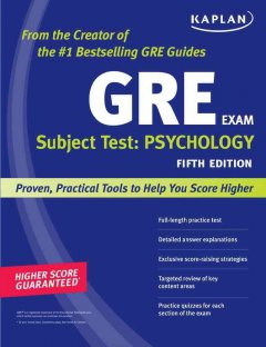 GRE exam subject test. Psychology cover image