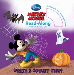 Mickey's spooky night : read-along storybook and CD cover image