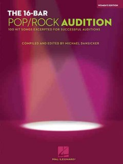 The 16-bar pop/rock audition 100 hit songs excerpted for successful auditions cover image