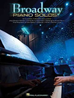 Broadway piano solos cover image