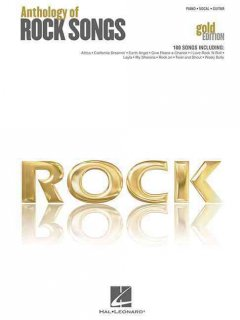 Rock anthology of rock songs : piano, vocal, guitar cover image