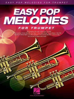 Easy pop melodies for trumpet cover image