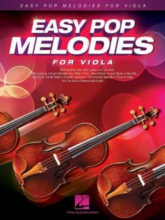 Easy pop melodies for viola cover image