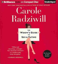 The widow's guide to sex & dating a novel cover image