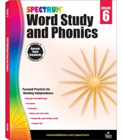 Spectrum word study and phonics. Grade 6 cover image