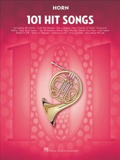 101 hit songs. Horn cover image