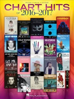 Chart hits of 2016-2017 piano, vocal, guitar cover image